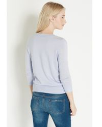 Oasis Blue Lace Front Top