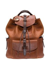 Will Leather Goods Brown 'rainier' Leather Backpack