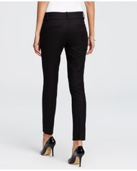 Ann Taylor - Black Devin Cotton Twill Skinny Ankle Pants - Lyst