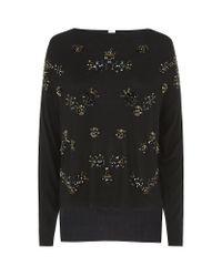 Pinko Black Embellished Belfast Sweater
