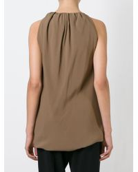Rick Owens - Brown Ruched Tank Top - Lyst