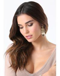 Bebe - Metallic Layered Coin Earrings - Lyst