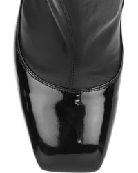 Alexander McQueen | Black Leather Over-the-knee Boots | Lyst