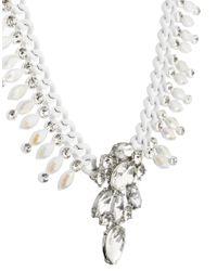 River Island | White Pretty Coral Chain Diamond Short Statement Necklace | Lyst
