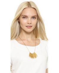 Madewell Metallic Sara Necklace - Vintage Gold