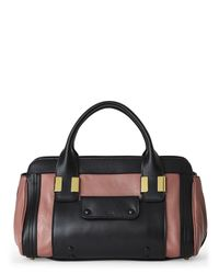 Chloé - Chlo㉠Romantic Mauve & Black Little Alice Satchel - Lyst