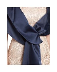 Adrianna Papell Blue Pull Through Wrap
