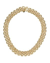 Lydell NYC | Metallic Shiny Golden Collar Necklace | Lyst