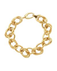 Lord & Taylor | Metallic 14k Yellow Gold Link Bracelet | Lyst