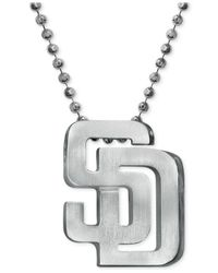 Alex Woo | Metallic Mlb Collection By Sterling Silver San Diego Padres Pendant Necklace | Lyst