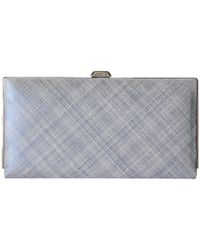 Lodis | Blue Sophia Cross Hatch Quinn Clutch Wallet | Lyst