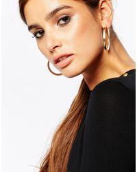 ASOS | Metallic Pack Of 2 Chunky Hoop Earrings | Lyst