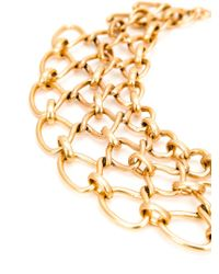 Oscar de la Renta - Metallic Interlocking Chain Necklace - Lyst