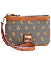 Dooney & Bourke | Gray Gretta Medium Signature Wristlet | Lyst