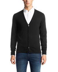 HUGO Black Cardigan In New Wool: 'siadario' for men