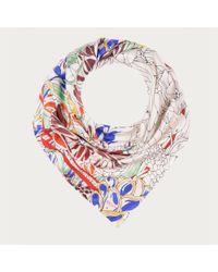 Bally - Multicolor Floral Silk Scarf - Lyst