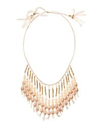 Nakamol - Natural Beaded Fringe Lace Necklace - Lyst