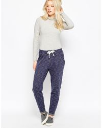 Native Youth - Blue Textured Sweatpants - Navy / Grey - Lyst