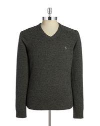 Original Penguin - Black Wool V-neck Sweater for Men - Lyst