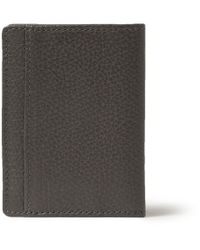 A.P.C. - Gray Textured-Leather Billfold Wallet for Men - Lyst