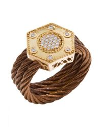 Charriol - Brown Women's Celtique Rose 18k Gold And Bronze-tone Diamond .17tcw Ring - Lyst