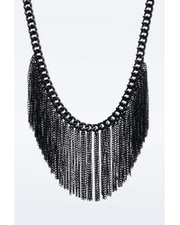 Urban Outfitters | Black Chain Fringe Necklace | Lyst
