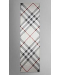 Burberry | Natural Check Silk Crépon Scarf | Lyst