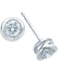 Macy's - Metallic Sirena Diamond Twist Stud Earrings (1/5 Ct. T.w.) In 14k White Gold - Lyst