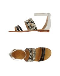 French Connection   Black Sandals   Lyst