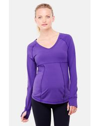 Ingrid & Isabel | Purple Long Sleeve Active Maternity Top | Lyst