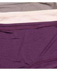 H&M Purple 3-pack Microfibre Shorts