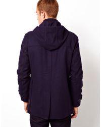 Ben Sherman Blue Duffle Coat for men