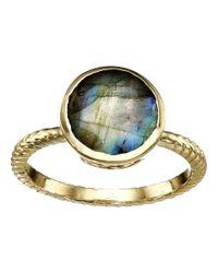 Cole Haan - Metallic Brilliant Cut Semi Precious Ring - Lyst