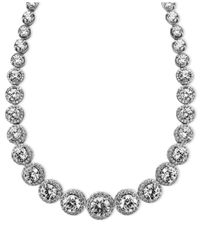Arabella | Metallic Swarovski Zirconia Necklace (55-1/3 Ct. T.w.) | Lyst