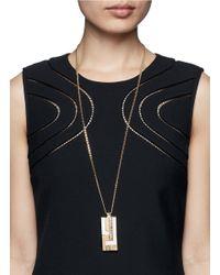 St. John - Metallic 'angles' Swarovski Crystal Plate Pendant Necklace - Lyst
