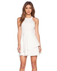 Ladakh - White Undivided Neoprene Dress - Lyst