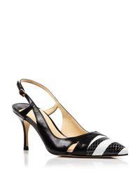 Ivanka Trump - Black Pointed Toe Slingback Pumps - Billa High Heel - Lyst