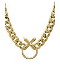Luv Aj - Metallic The Crystal Cross Necklace - Lyst