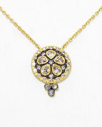 "Freida Rothman | Metallic Floral Metropolitan Pendant Necklace, 16"" | Lyst"
