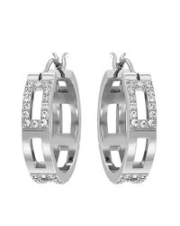 Swarovski | Metallic Crystal Cubist Hoop Earrings | Lyst