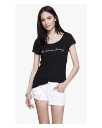 Express Black One Eleven Be Extraordinary Graphic Tee