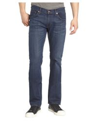 James Jeans - Princeton Blue Medium Wash Straight Leg Denim Jeans for Men - Lyst