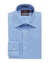 Black & Brown Blue Regular Fit Dress Shirt for men