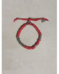 John Varvatos - Red Wrapped Leather Bracelet for Men - Lyst