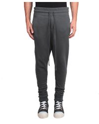 Thom Krom - Gray Baggy Cotton Pants for Men - Lyst