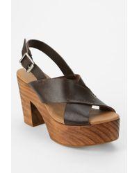 Kelsi Dagger Brooklyn Brown Shaylah Platform Sandal