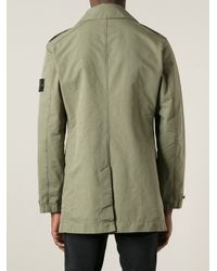 Stone Island Green Military Jacket for men