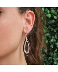 Inbar - Metallic Diamond Pave And Ebony Wood Earrings - Lyst