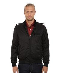 Members Only | Black Modern Iconic Racer Jacket for Men | Lyst