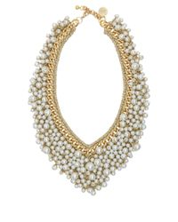 Venessa Arizaga | Metallic Pearl Dancing Queen Necklace | Lyst